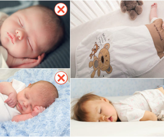 best new born sleeping positions