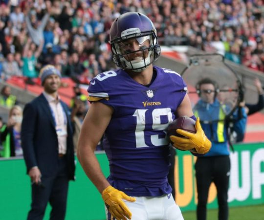 jubilant Minnesota Vikings team