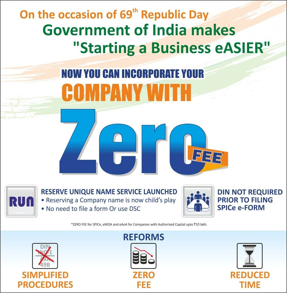 New Company Registration Process in India